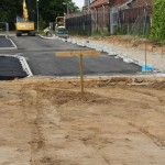 road construction, ypres road, colchester garrison